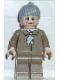 Minifig No: spd024  Name: Aunt May, Dark Tan Blouse, Dark Tan Legs, Light Bluish Gray Ponytail Hair