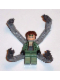 Minifig No: spd027  Name: Dr. Octopus (Otto Octavius) / Doc Ock, Sand Green Jacket, Sand Green Legs, Clenched Teeth Smile - With Arms