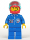Minifig No: splc005  Name: Launch Command - Crew, Red Helmet, Trans-Light Blue Visor