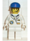 Minifig No: spp001  Name: Space Port - Astronaut C1, White Legs, Blue Cap