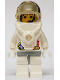 Minifig No: spp002  Name: Space Port - Astronaut 2 Red Buttons, White Legs with Light Gray Hips, Female