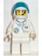 Minifig No: spp015  Name: Space Port - Astronaut C1, White Legs, White Helmet, Visor