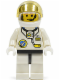 Minifig No: spp017  Name: Space Port - Astronaut C1, White Legs with Black Hips