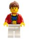 Minifig No: stu010b  Name: Female with Crop Top and Navel Pattern - LEGO Logo on Back, Reddish Brown Hair