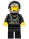 Minifig No: stu011  Name: Boat Driver, Black with Dark Gray Helmet, Black Visor