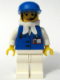 Minifig No: stu013a  Name: Assistant Female with White Bandana, Blue Cap