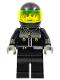 Minifig No: stu015  Name: Male Actor 3, Driver, Black Helmet, Trans-Neon Green Visor