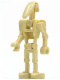 Minifig No: sw0001b  Name: Battle Droid Tan without Back Plate
