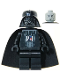 Minifig No: sw0004  Name: Darth Vader (Light Gray Head)