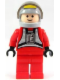 Minifig No: sw0032a  Name: Rebel Pilot B-wing - Light Nougat Head, Light Bluish Gray Helmet, Trans-Black Visor, Red Flight Suit