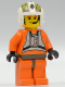 Minifig No: sw0033  Name: Rebel Pilot Y-wing with Dark Gray Hips (Dutch Vander)