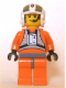 Minifig No: sw0033a  Name: Rebel Pilot Y-wing, Dark Bluish Gray Hips (Dutch Vander)