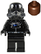 Minifig No: sw0035a  Name: TIE Fighter Pilot (Reddish Brown Head)
