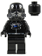 Minifig No: sw0035b  Name: TIE Interceptor Pilot (Black Head)