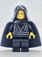 Minifig No: sw0044  Name: Luke Skywalker with Black Hood, Black Cape