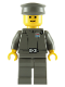 Minifig No: sw0046  Name: Imperial Officer (Captain / Commandant / Commander) - Police Cap, Yellow Head with Standard Grin