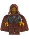 Minifig No: sw0057  Name: Jedi Knight (Dark Gray Tunic, Brown Hood)