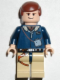 Minifig No: sw0081  Name: Han Solo - Light Nougat,Reddish Brown Hair, Tan Legs