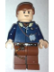 Minifig No: sw0088a  Name: Han Solo - Light Nougat, Reddish Brown Legs with Holster (2010)