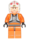 Minifig No: sw0090  Name: Luke Skywalker - Light Nougat, X-Wing Pilot Suit, Simple Torso and Helmet