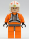 Minifig No: sw0090a  Name: Luke Skywalker - Light Nougat, X-Wing Pilot Suit, Detailed Torso and Helmet (2010)