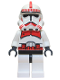 Minifig No: sw0091  Name: Clone Trooper Episode 3, Red Markings, 'Shock Trooper'