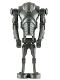 Minifig No: sw0092  Name: Super Battle Droid - Pearl Dark Gray
