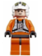 Minifig No: sw0094  Name: Rebel Pilot Y-wing - Light Nougat Head (Dutch Vander)