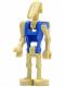 Minifig No: sw0095a  Name: Battle Droid Pilot with Blue Torso