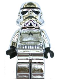 Minifig No: sw0097  Name: Stormtrooper - Chrome Silver