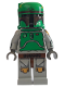Minifig No: sw0107  Name: Boba Fett (Cloud City - Printed Arms & Legs)