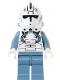 Minifig No: sw0118  Name: Clone Pilot (Sand Blue Legs)