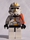 Minifig No: sw0128  Name: Clone Trooper Episode 3, Yellow Markings and Pauldron