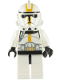 Minifig No: sw0128a  Name: Clone Trooper Episode 3, Yellow Markings, No Pauldron, 'Star Corps Trooper'