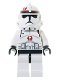 Minifig No: sw0130  Name: Clone Trooper Episode 3, Dark Red Markings