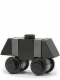 Minifig No: sw0156  Name: Mouse Droid (MSE-6-series Repair Droid) - Black / Dark Bluish Gray