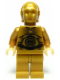 Minifig No: sw0161  Name: C-3PO - Pearl Gold with Pearl Light Gold Hands