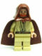 Minifig No: sw0172  Name: Qui-Gon Jinn - Light Nougat Head, Brown Hood and Cape