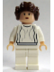 Minifig No: sw0175  Name: Princess Leia (White Dress, Light Flesh, Small Eyes)