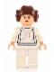 Minifig No: sw0175a  Name: Princess Leia (White Dress, Light Flesh, Small Eyes, Smooth Hair)