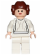 Minifig No: sw0175b  Name: Princess Leia - Light Nougat, White Dress, Big Eyes