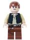 Minifig No: sw0179  Name: Han Solo - Light Nougat, Black Vest