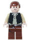 Minifig No: sw0179a  Name: Han Solo (Black Vest, Light Flesh 2010 Head Pattern)