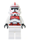 Minifig No: sw0189  Name: Clone Trooper Episode 3, Red Markings, White Hips 'Shock Trooper'