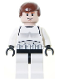 Minifig No: sw0205a  Name: Han Solo - Stormtrooper Outfit, Light Flesh 2010 Head Pattern