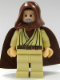 Minifig No: sw0206  Name: Obi-Wan Kenobi (Old, Light Flesh with Hood and Cape)