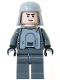 Minifig No: sw0261  Name: Imperial Officer with Battle Armor (Captain / Commandant / Commander) - Dark Bluish Gray Legs, Smirk