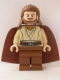 Minifig No: sw0322  Name: Qui-Gon Jinn - Light Nougat Head, Reddish Brown Legs and Cape