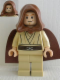 Minifig No: sw0329  Name: Obi-Wan Kenobi (Young with Hood and Cape, Tan Legs, Smile)