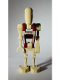 Minifig No: sw0347  Name: Battle Droid Security with Straight Arm - Dot Pattern on Torso